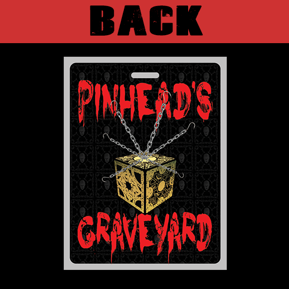 Pinhead's Graveyard Victim Badge Back