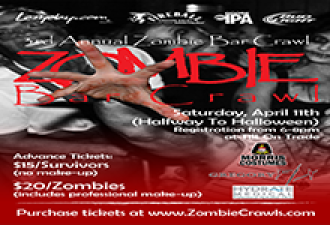 Halfway to Halloween 3rd Annual Zombie Bar Crawl – Charlotte, NC – April 11, 2015