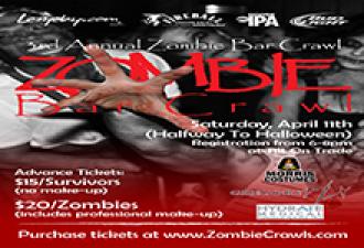 Halfway to Halloween 3rd Annual Zombie Bar Crawl – Charlotte, NC – April 11, 2015