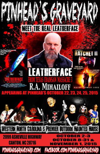 Meet The Real Leatherface this weekend!