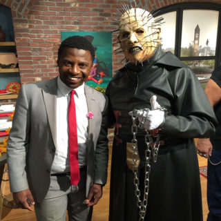 Pinhead from Pinhead's Graveyard and Studio 62 host Jamarcus Gaston