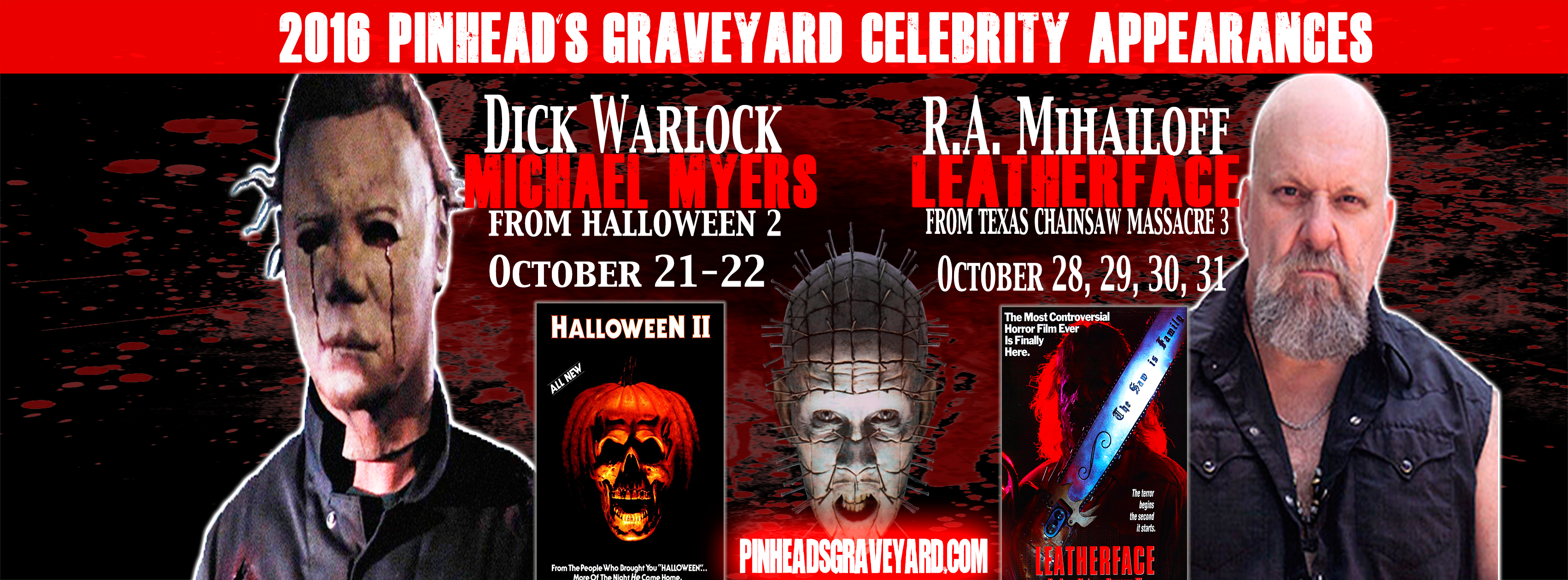 2016 celebrity appearances announced! | pinhead's graveyard