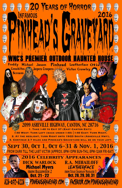 2016 Pinhead's Graveyard Flyer