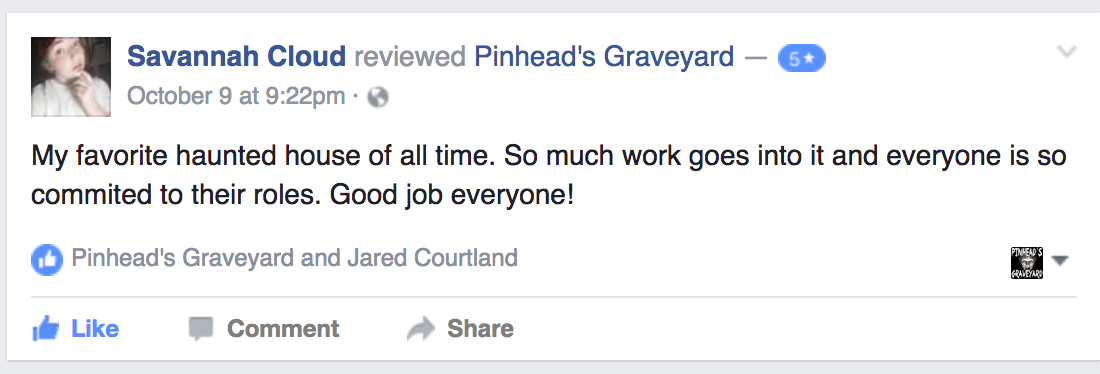 2016 Pinhead's Graveyard Review