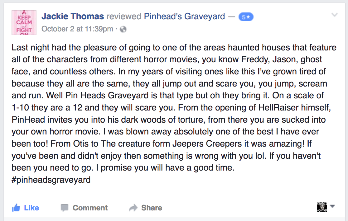 2016 reviews are in | pinhead's graveyard | north carolina