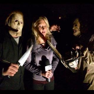 WLOS News 13 Reporter Lauren Brigman at Pinhead's Graveyard